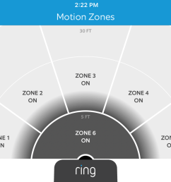 a screenshot of the motion zones screen in the ring video doorbell 2 app the [ 1334 x 750 Pixel ]
