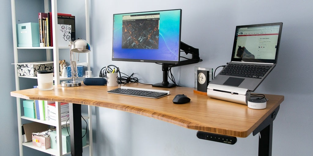 chair mount keyboard tray canada high minnie mouse the best standing desks for 2019 reviews by wirecutter a new york
