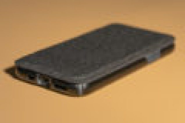 The The Presidio Folio shown covering the iPhone 11.