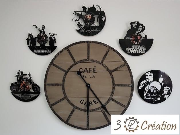 deco disque vinyle horloge michel
