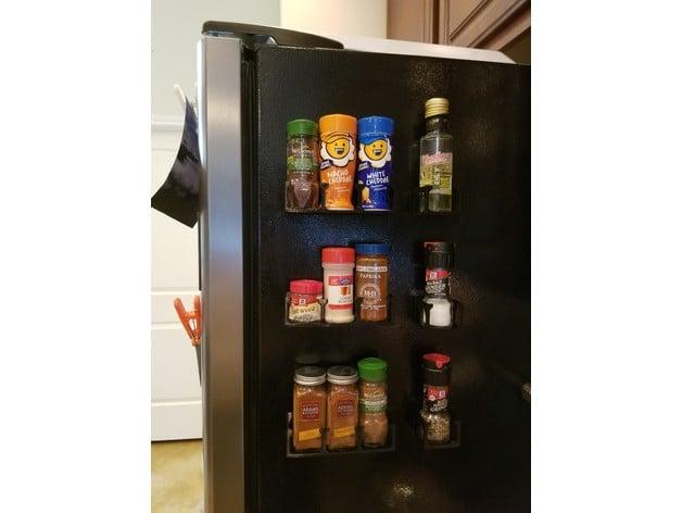 magnetic refrigerator spice rack set