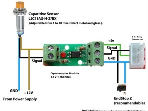 Diagram for capacitive sensor with optocoupler module by