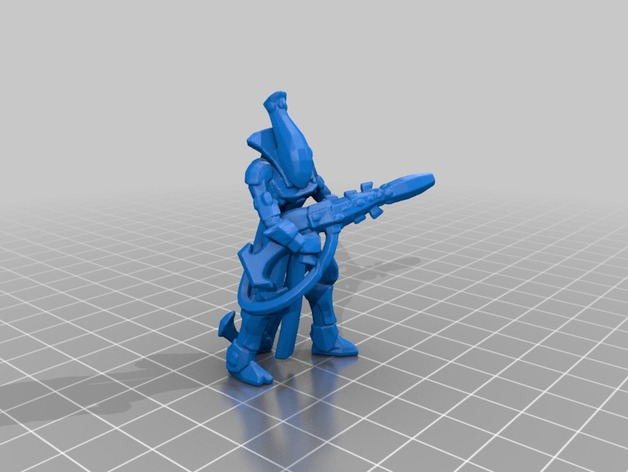 wraithguard 28mm 3d printed 6mm Army: Eldar. Infantería