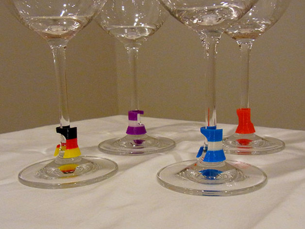 Wine Glass Marker  Subtle practical and stylish 3D