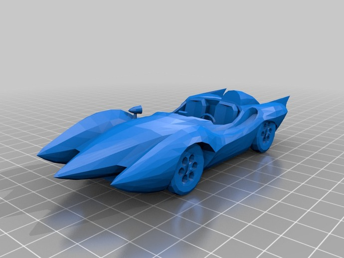 Mach 5 car from Speed Racer by Gadmek  Thingiverse