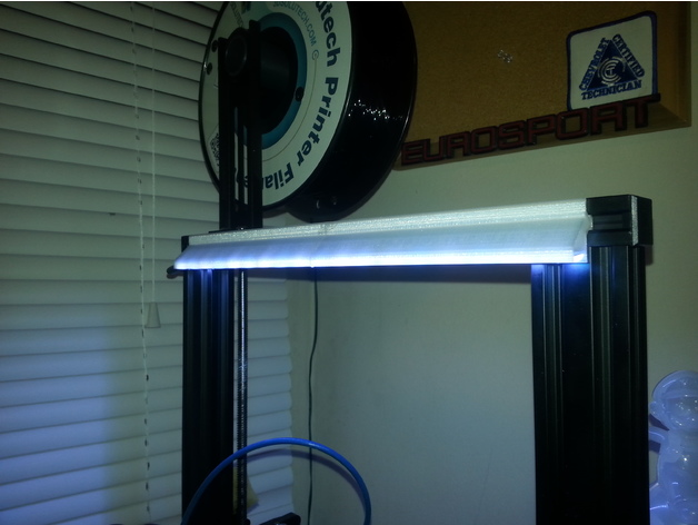 Ender 3 Light Bar By Kevlarr Thingiverse