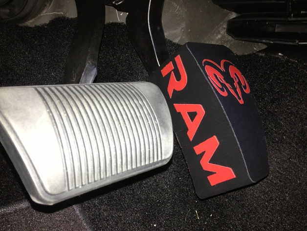 RAM 3500 Gas Pedal Extension by Identifier  Thingiverse