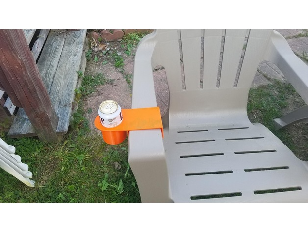 Cup Holder for Plastic Adirondack Chairs by renuncln