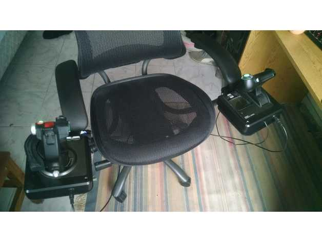office chair joystick mount cochrane oak table and chairs pole for by nehuy thingiverse thingiview