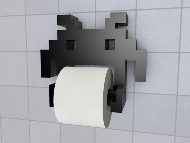Space Invader Toilet Paper Holder by sebisebman  Thingiverse