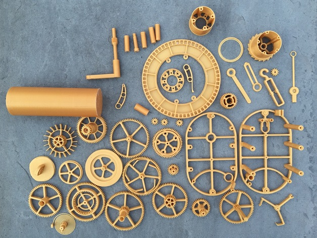 3D Printed Mechanical Clock With Anchor Escapement By Rsilvers