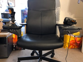 office chair joystick mount fire pit with chairs things tagged hotas thingiverse thrustmaster 16000m ikea mod