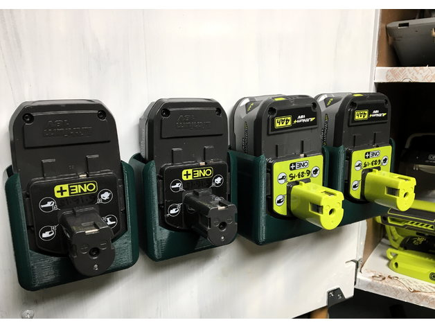 Ryobi One Battery Hanger by rsgeek  Thingiverse