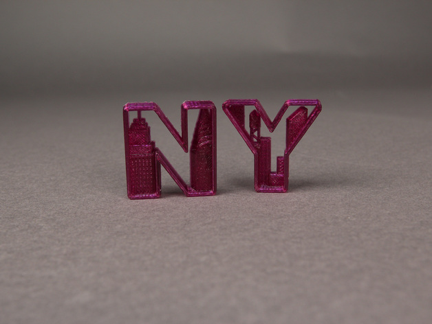 Nyc New York Letters By Makerbot Thingiverse