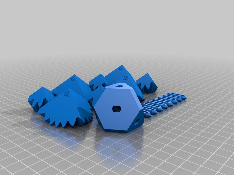 three cube gears by
