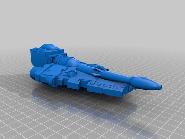 3d printed eldar falcon