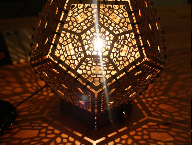Dodecahedron Shadow Lamp By Michael3 Thingiverse