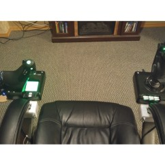 Office Chair Joystick Mount Ribbon Back Dining Chairs Diy Cockpit For Vr Htc Vive Oculus With X52 Hotas By Thingiview
