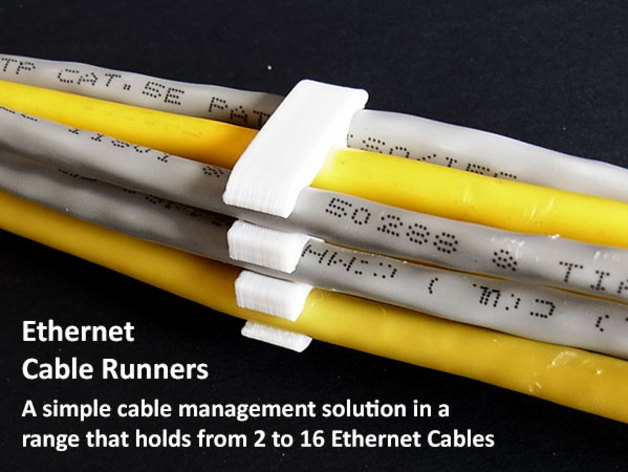 Ethernet Cable Runners By Muzz64 Thingiverse