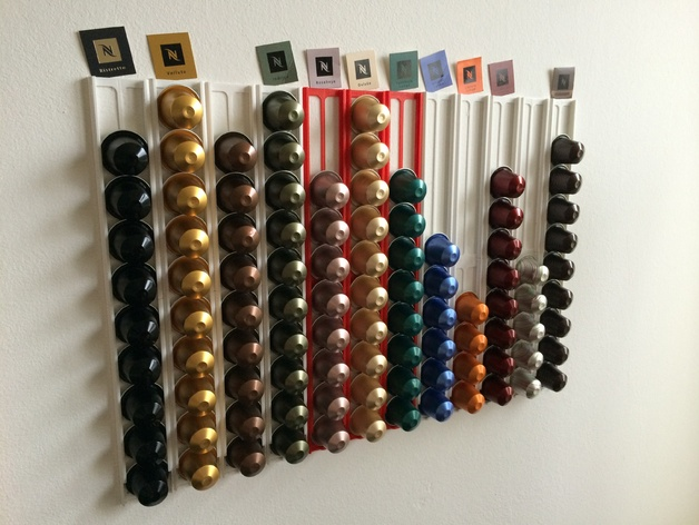 Nespresso capsule wall holder light by the_mike  Thingiverse