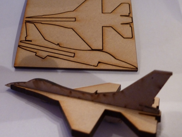 Lasercut Mini F16 By Yngel Thingiverse