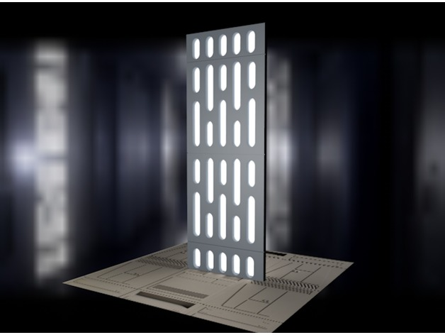 Death Star Light Panel For Figure Diorama By NerdFactory