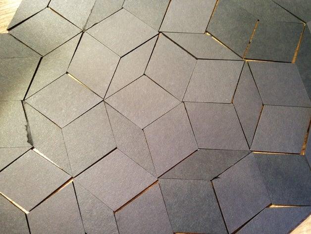 Lasercut Penrose Tiles By Hudson Thingiverse