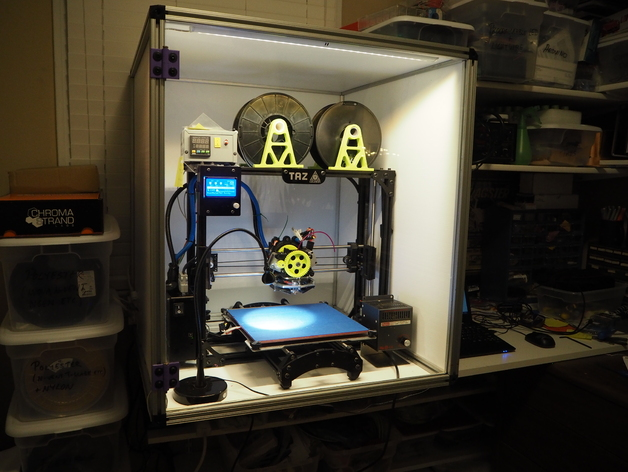 Heated 3D Printer Enclosure by KillaCycle  Thingiverse