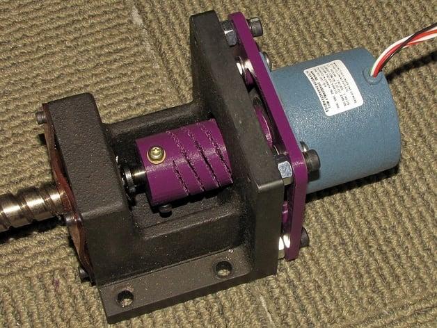 NEMA 34 Mount To NEMA 23 Motor Adapter Plate By Thedigitaldentist Thingiverse