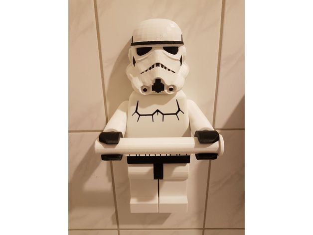 Lego Stormtrooper Toilet paper holder by baathinape  Thingiverse