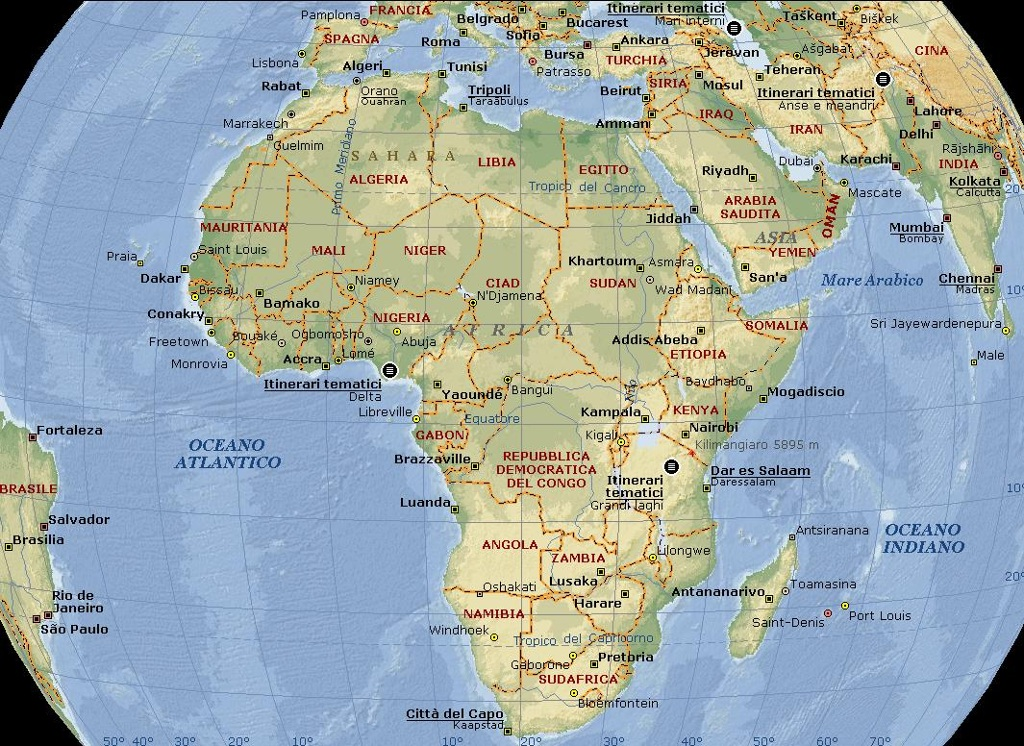Africa Settentrionale Nella Parte Settentrionale Del Con
