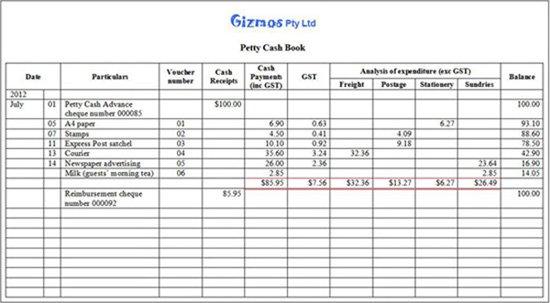 cash book template pdf