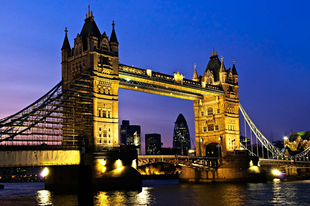 Tower Bridge (built 1886–1894) is a combined bascule and ...
