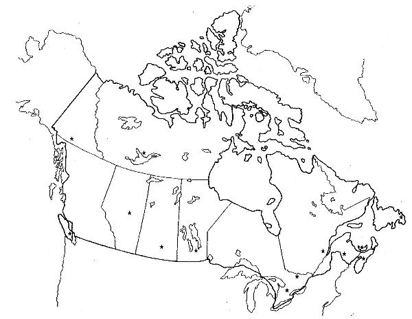 Physical Map of Canada By Aaron Park