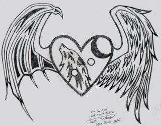 wolf heart winged wait thinglink