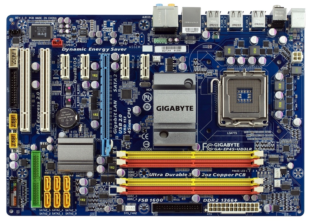 Motherboard Labelled