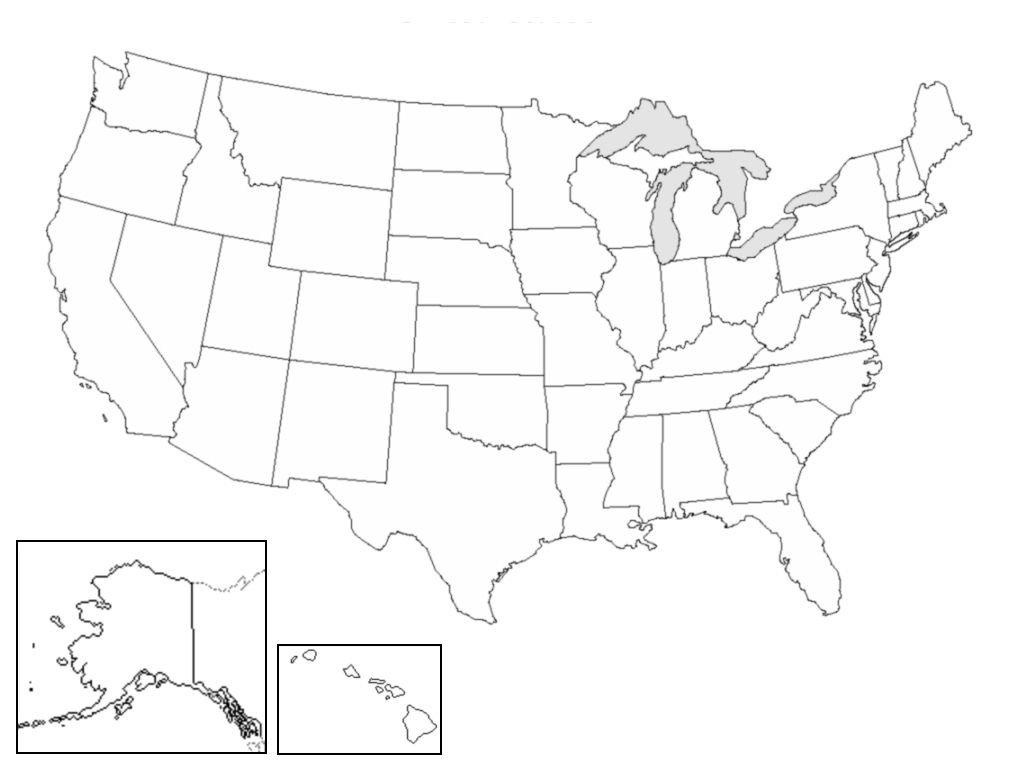 Mapa político de los Estados Unidos de América