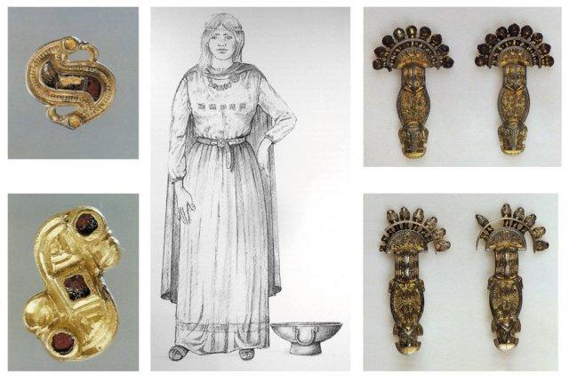 Abbigliamento femminile longobardo Alessia Grasso