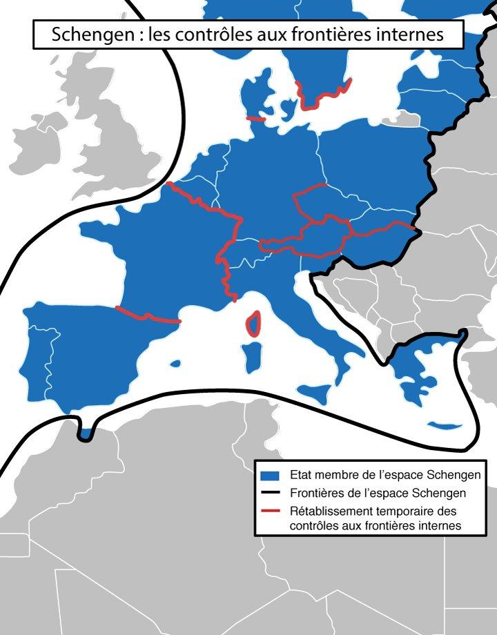 Schengen : les contrôles aux frontières internes