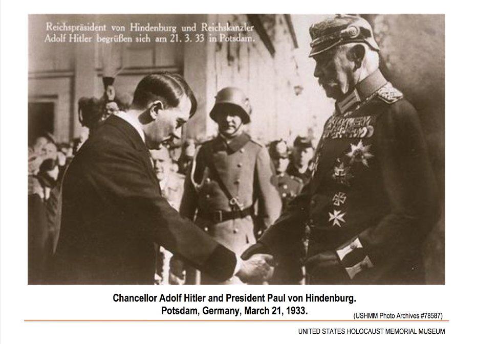 Transfer of Power Between Hindenburg and Hitler