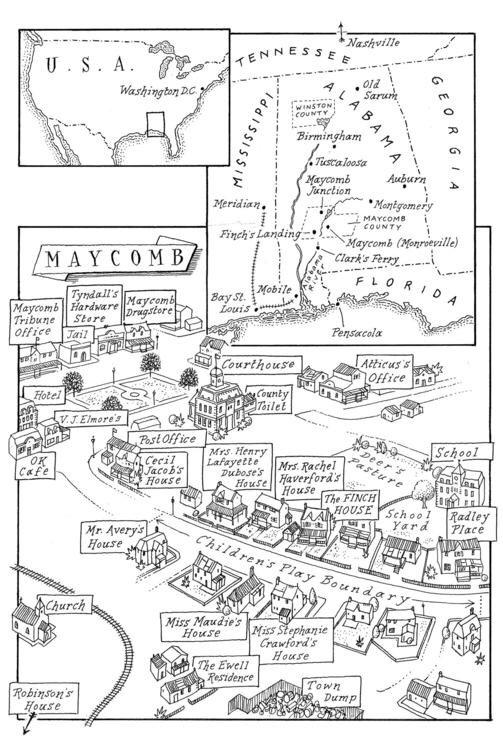 Maycomb county interactive map