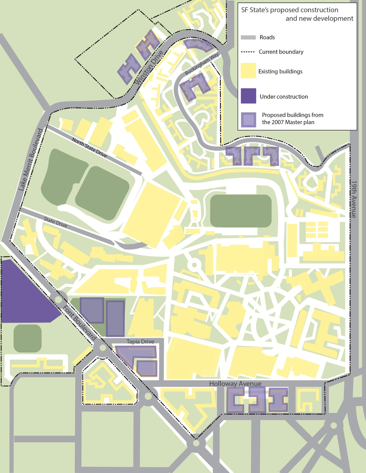 Sfsu Campus Map : campus, INTERACTIVE, State, Welcome, Buildings