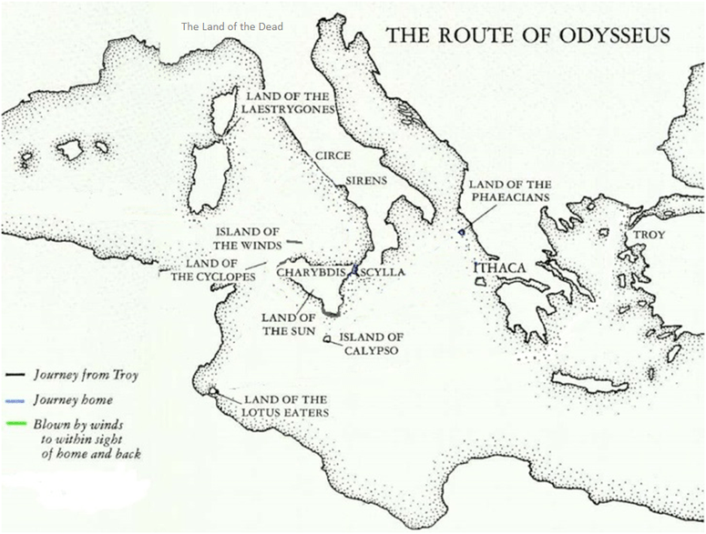 Odysseus Journey Map In Order