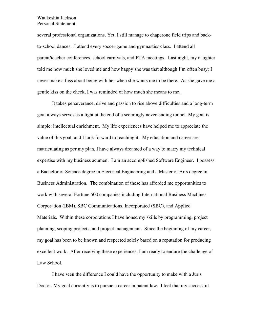 2 Law School Personal Statements That Succeeded Top Law Schools