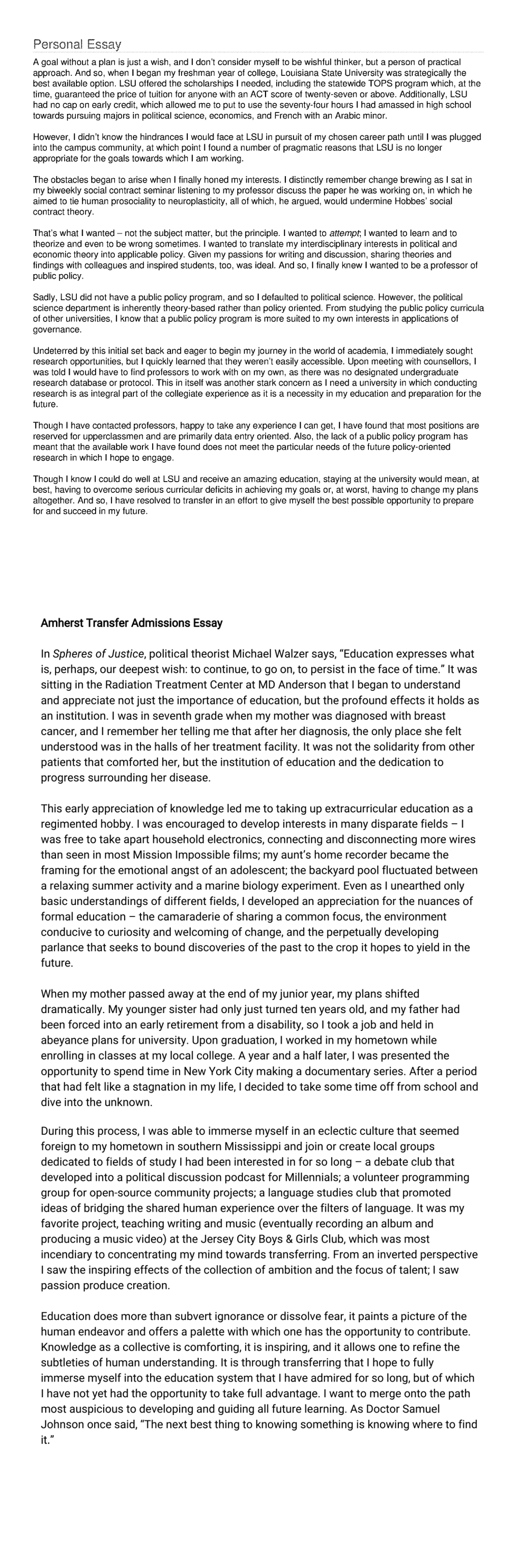 Compare And Contrast Essay Example For College Read 2 Transfer Student Essays That Worked Best Colleges Us News