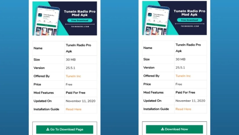 Download TuneIn Radio Pro Apk Free