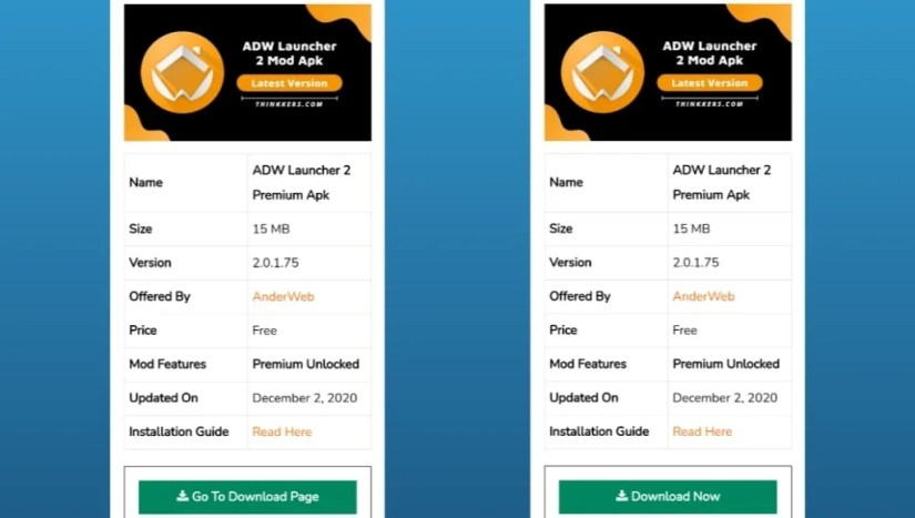 Download ADW Launcher 2 Mod Apk