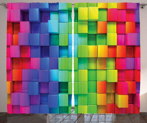 3D Cube Curtains