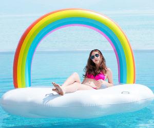 Giant Inflatable Rainbow Cloud Pool Float