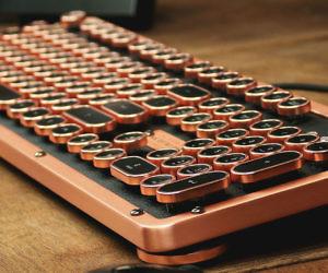 Azio Luxury Retro Keyboard
